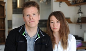 Zixuan Qu and her fiance Duncan Watkinson at their home in Acton