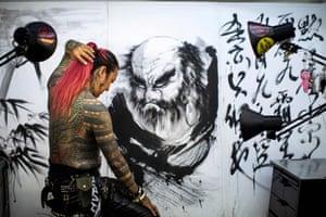 Tattoo artist Noriyuki Katsuta