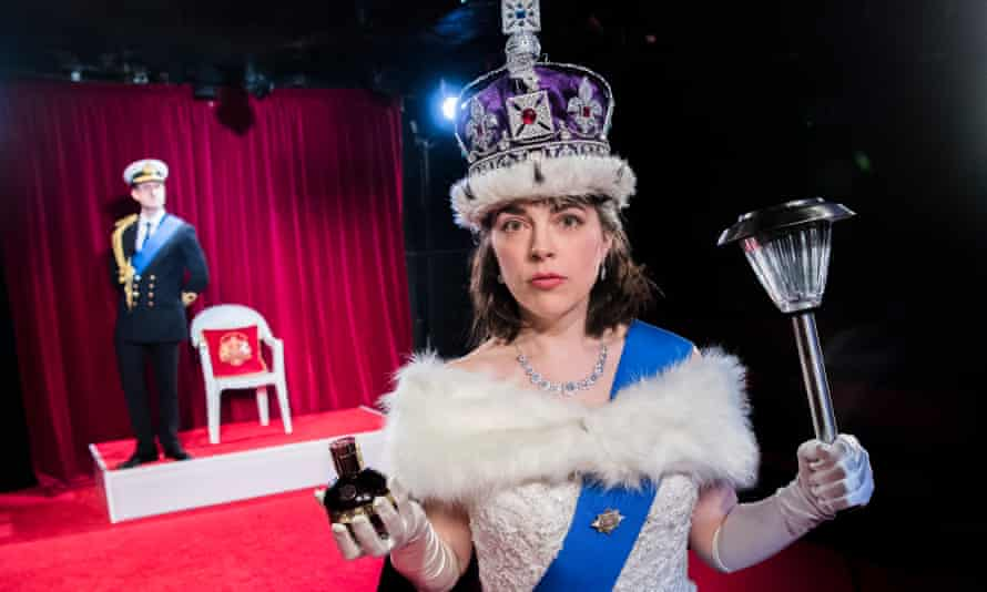 Rosie Holt and Brendan Murphy in The Crown Dual by Daniel Clarkson at King's Head, London. Directed by Owen Lewis.
