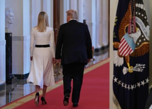 Donald Trump and his daughter Ivanka, seen at the White House in June.