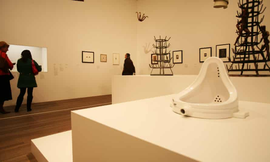 Marcel Duchamp's Fountain at the Tate Modern in London