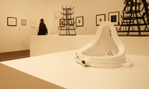 Marcel Duchamp's Fountain, 1917, in the Duchamp, Man Ray, Picabia exhibition at the Tate Modern in London