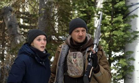 Cold case … Elizabeth Olsen and Jeremy Renner in Wind River.