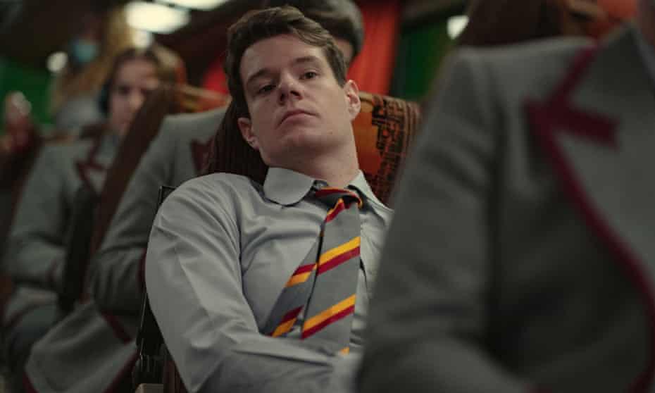 Phenomenal … Connor Swindells as Adam Groff in season three of Sex Education.