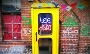 Teledisko, an 'upcycled' phone booth in Berlin now used as a mini disco.