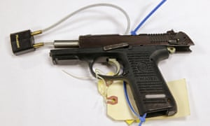 The Ruger pistol that Stephen Silva said he loaned to Dzhokhar Tsarnaev in February 2013. Authorities say the P-95 Ruger was the gun used to kill MIT police officer Sean Collier.