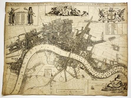 John Oliver's Map of London – circa 1680.