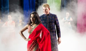 Tannishtha Chatterjee and Brett Lee in a scene that pays homage to Bollywood.