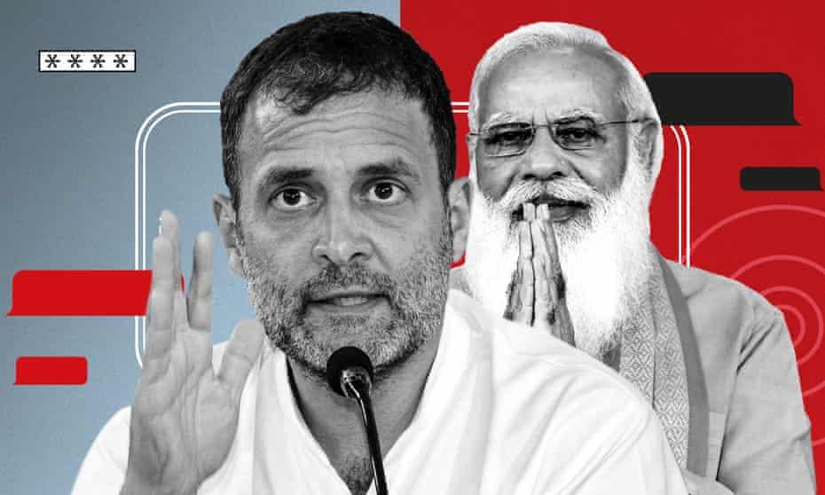 Rahul Gandhi and Narendra Modi