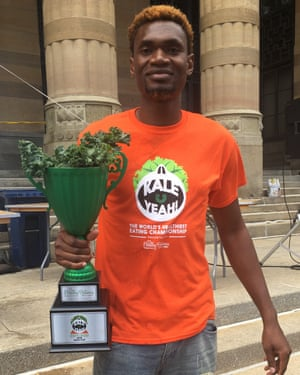 Oji the kale champion.