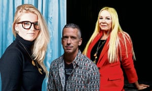 Sexual healing … Kate Moyle, Dan Savage and Pamela Stephenson Connolly.