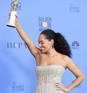 Tracee Ellis Ross with her award.