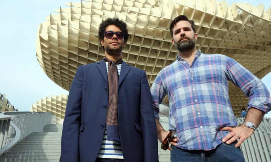 Richard Ayoade and Rob Delaney in Seville.