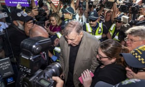 Cardinal George Pell arrives at County Court in Melbourne, Australia, February 27, 2019.