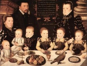 Elizabethan family … a portrait of nobleman William Brooke and children, 1567.