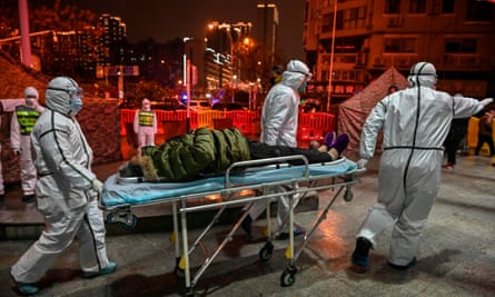 Man with mystery illness brought into Wuhan hospital earlier this year.