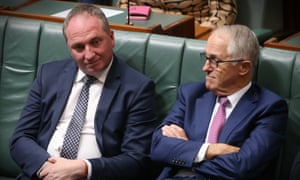 Prime minister Malcolm Turnbull (right) with deputy prime minister Barnaby Joyce,