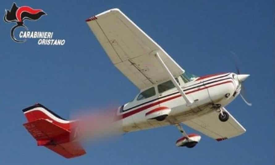 The light aircraft used to drop the drugs over Sardinia
