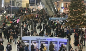 Waterloo station, which faces disruption.