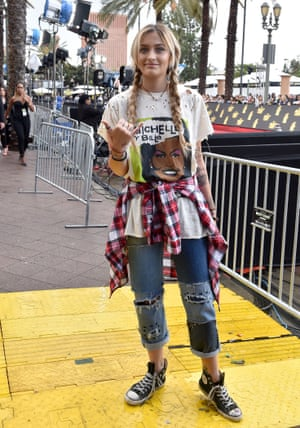 Paris Jackson in distressed fashion at the MTV Movie and TV Awards in May.