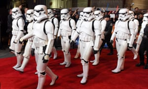 Stormtroopers arrive for the European premiere of Star Wars: The Force Awakens on Wednesday night in London's Leicester Square