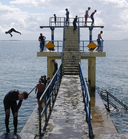 The Salthill diving platform, Galway
