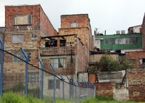 Barrio San Cristóbal, central Bogotá. All of the houses shown would need major improvements to make them safe.