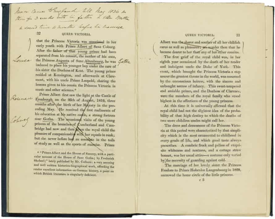 Catalogue of errors … Victoria's corrections to Agnes Strickland's Queen Victoria from Her Birth to Her Bridal