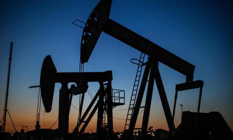 An oil facility in Long Beach, California