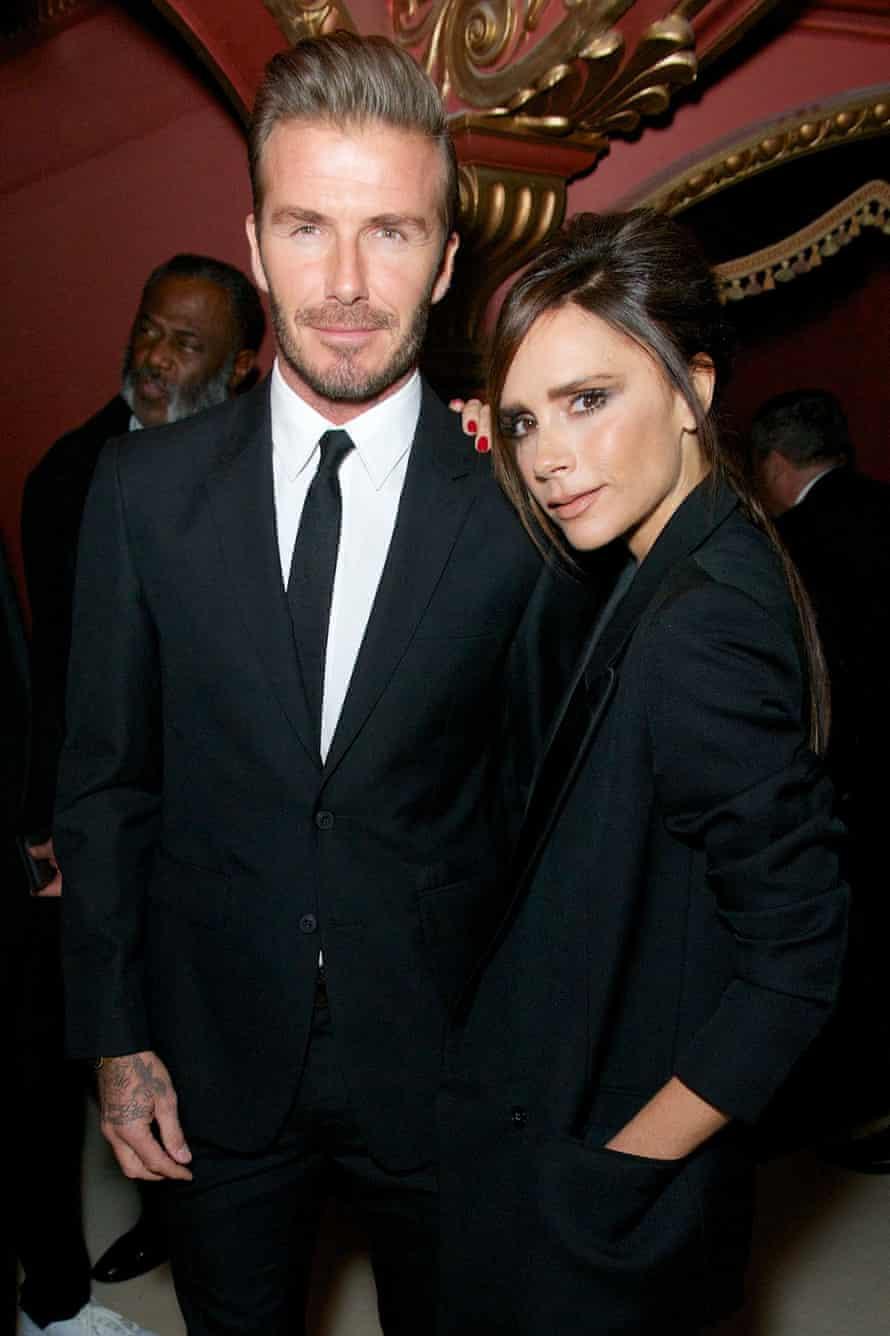 David and Victoria Beckham at the British Fashion Awards in 2015