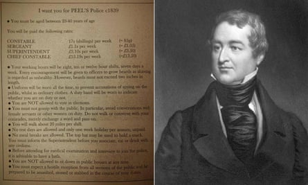The recruitment poster from Robert Peel, above right, which Chief Constable George Hamilton tweted.