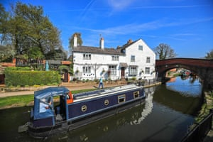 A houseboat