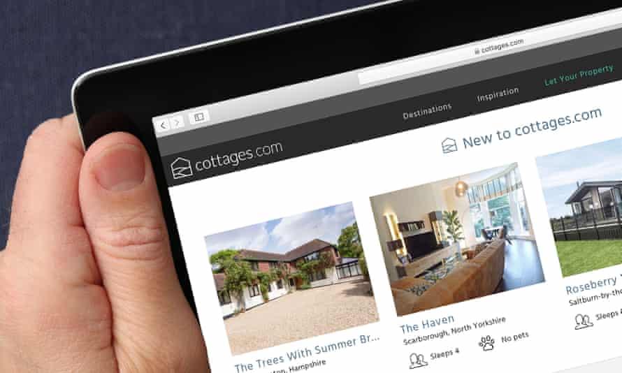 Cottages.com's website.