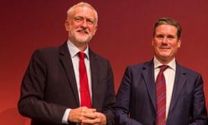 Jeremy Corbyn and Keir Starmer