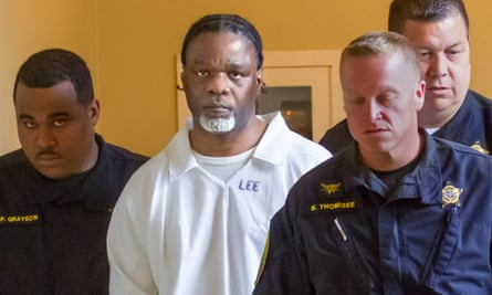 Ledell Lee appears in Pulaski county circuit court on Tuesday 18 April for a hearing in which lawyers argued to stop his execution.
