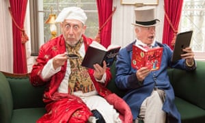 Michael Rosen and Tony Ross get into Dickensian character.