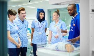 Medical students in hospital.