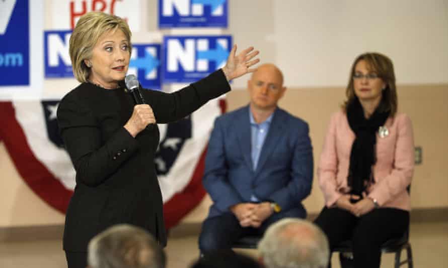 Hillary Clinton with Gabby Giffords