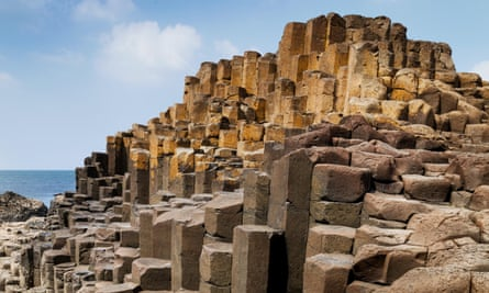 Stairway to heaven … the Giant's Causeway is a world heritage site and made up of about 40,000 interlocking basalt columns.