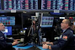 The floor of the New York Stock Exchange today