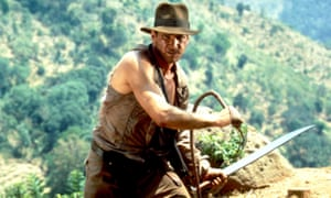Harrison Ford in Indiana Jones and the Temple of Doom.