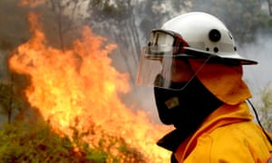 NSW and Qld fires: scores of bushfires continue to burn across Australia, with warnings of 'bad fire days' ahead. Firefighters backburn in Colo Heights in Sydney, on Saturday.