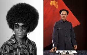 African Spirits series, 2008 and Emperor of Africa, SFEA 1949, 2013. © Samuel Fosso, courtesy Jean Marc Patras Galerie/ Paris