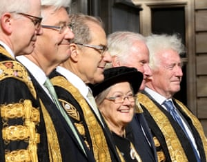 Lady Hale and fellow judges mark the start of the legal year in Westminster, London, October 2017.