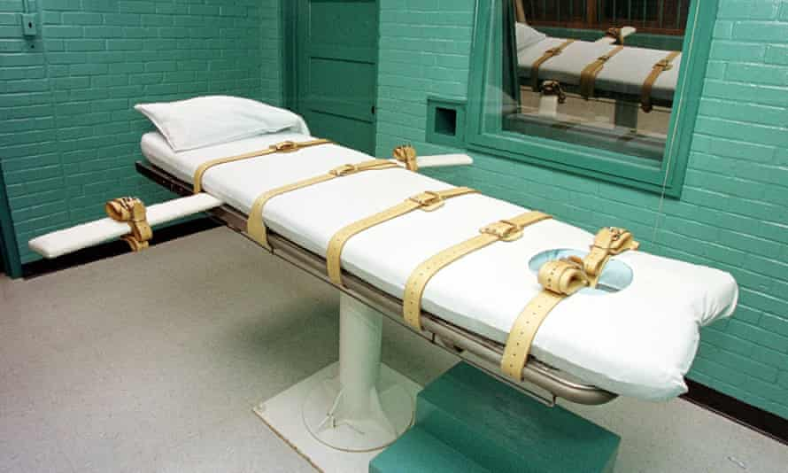 The 'death chamber' at the Texas department of criminal justice in Huntsville. Over the course of the year Texas plans to carry out five executions including that of Jones, out of a nationwide total of seven.