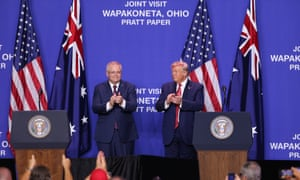 The New York Times reported that Trump urged Australia's prime minister, Scott Morrison, to help the attorney general discredit the Russia investigation by special counsel Robert Mueller.