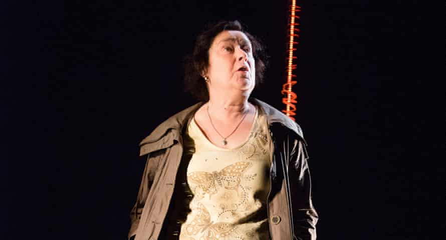 Sizzling vision … Linda Bassett as Mrs Jarrett in Escaped Alone by Caryl Churchill.