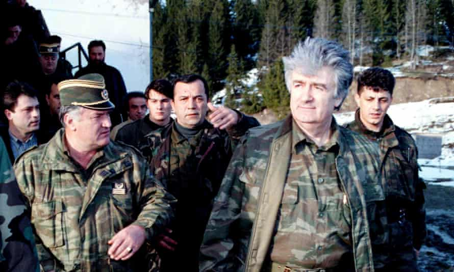 Karadzicand his general Ratko Mladic in 1995.