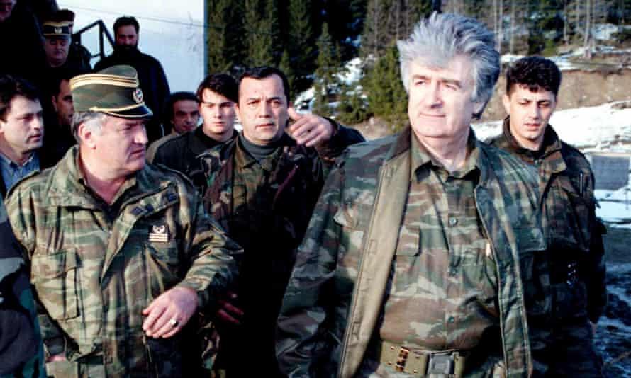 Radovan Karadžić and Ratko Mladić