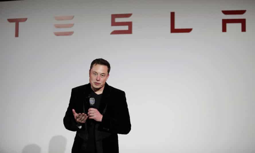 Elon Musk at the company's headquarters.